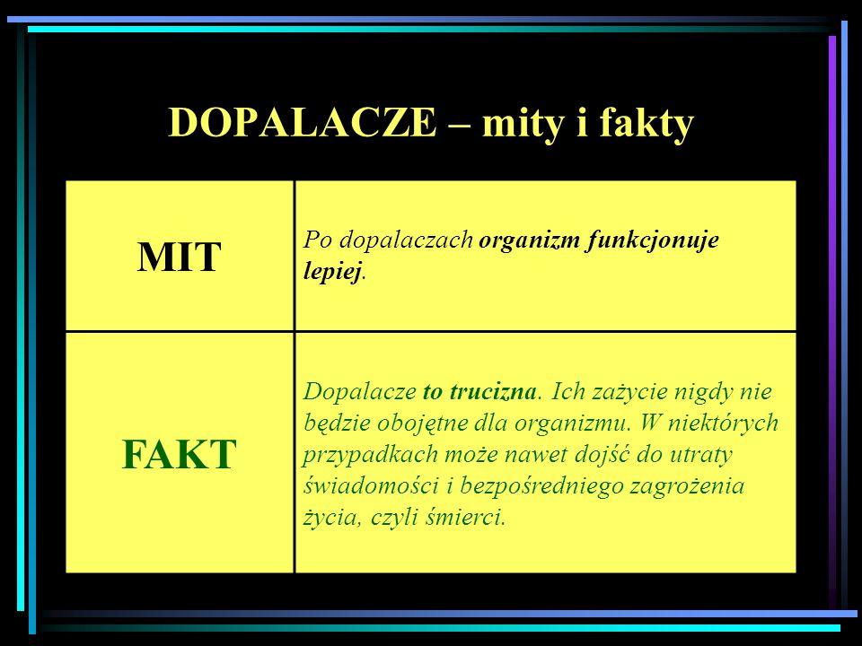DOPALACZE – mity i fakty