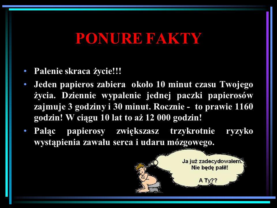 PONURE FAKTY Palenie skraca życie!!!