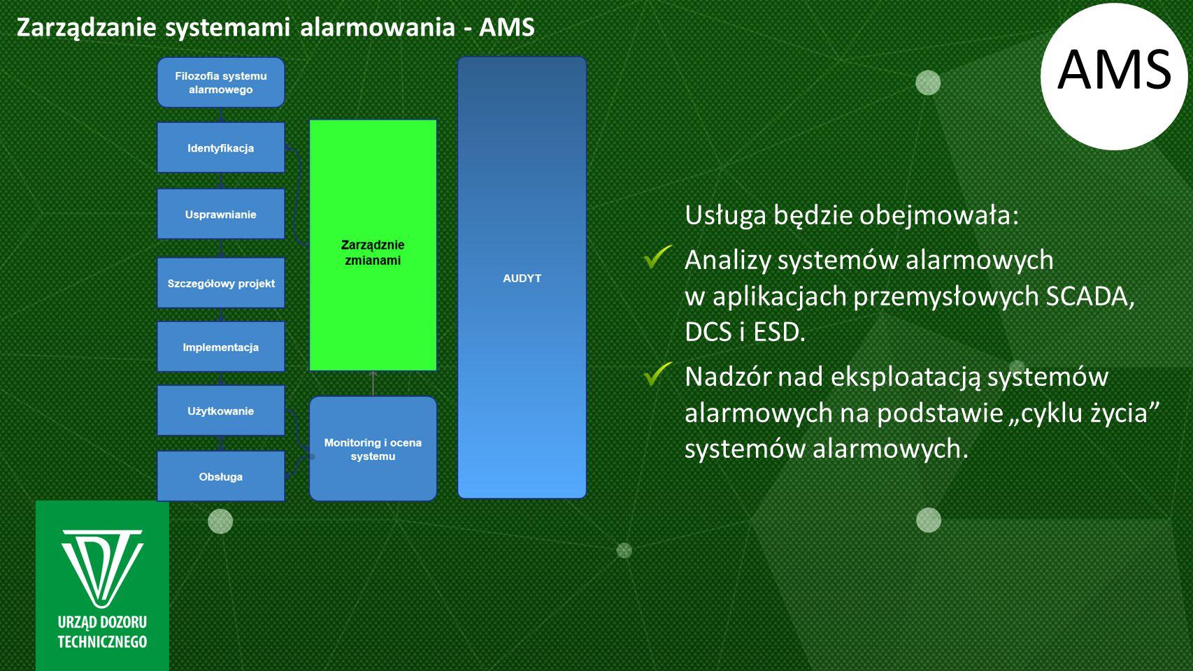 AMS Usługa będzie obejmowała: