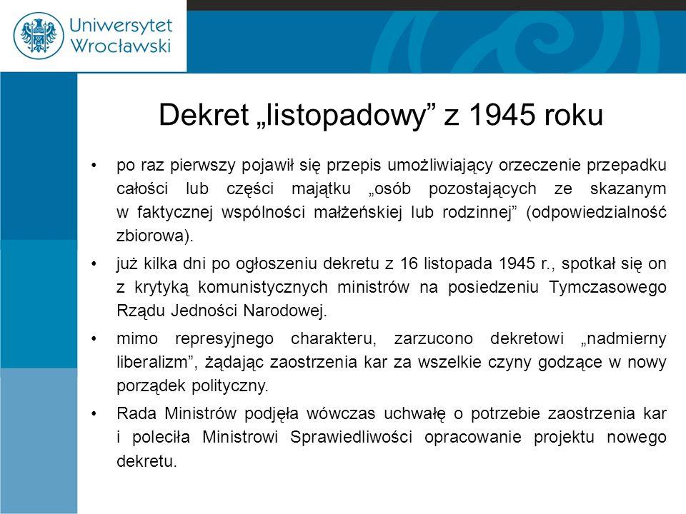 """Dekret """"listopadowy z 1945 roku"""