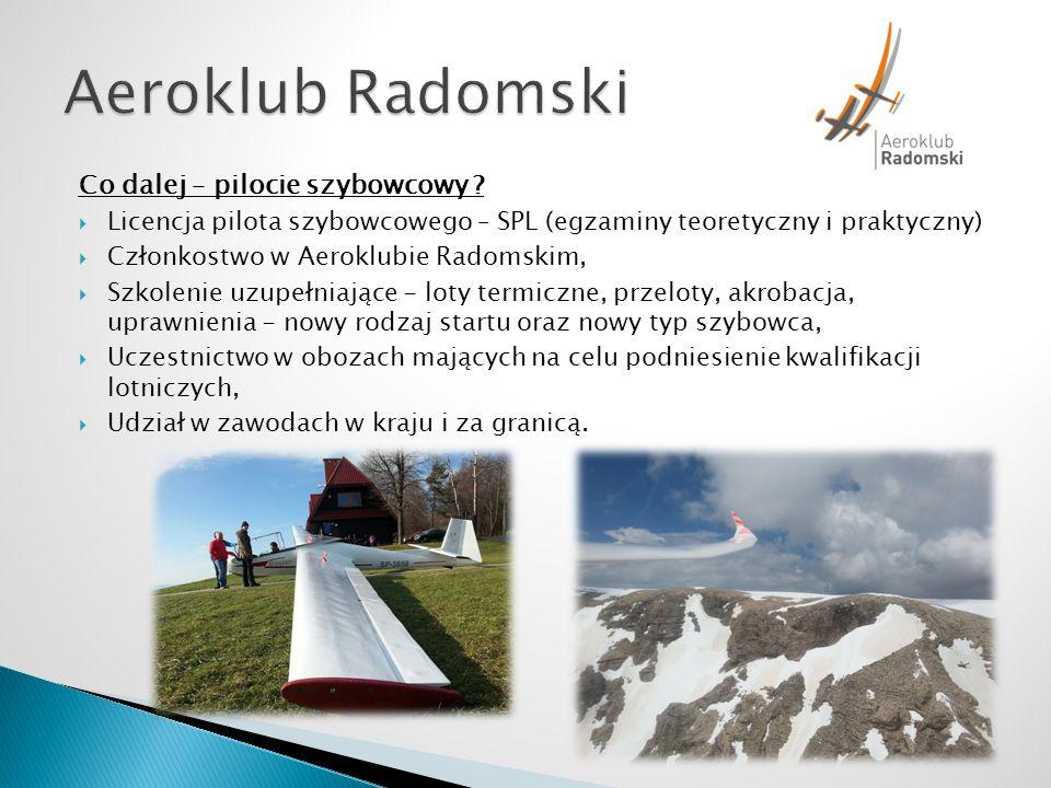 Aeroklub Radomski Co dalej – pilocie szybowcowy