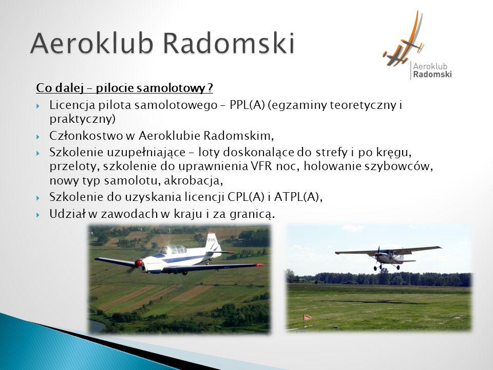 Aeroklub Radomski Co dalej – pilocie samolotowy