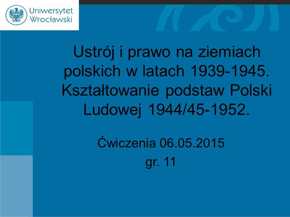 Ustrój i prawo na ziemiach polskich w latach 1939-1945