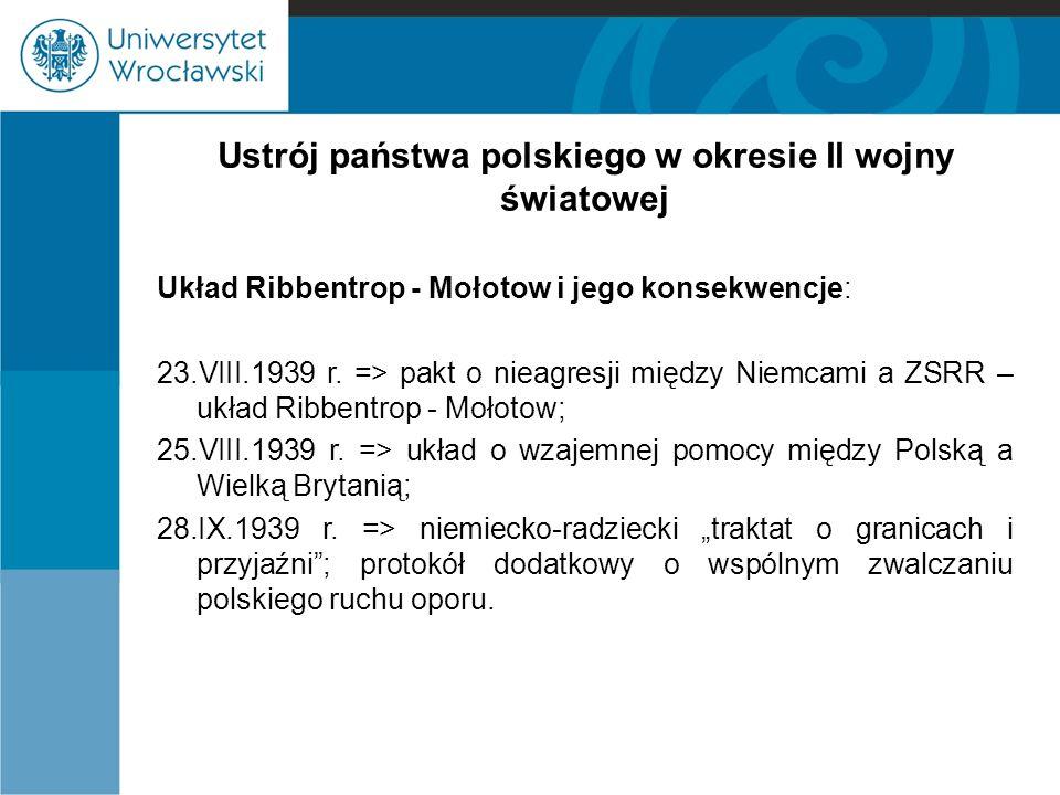 Ustrój państwa polskiego w okresie II wojny światowej