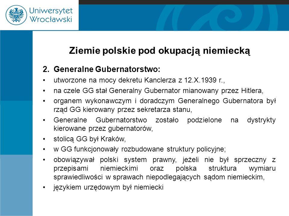 Ziemie polskie pod okupacją niemiecką