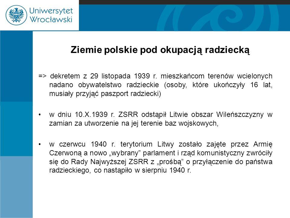 Ziemie polskie pod okupacją radziecką