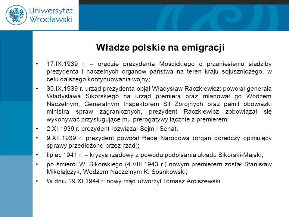 Władze polskie na emigracji
