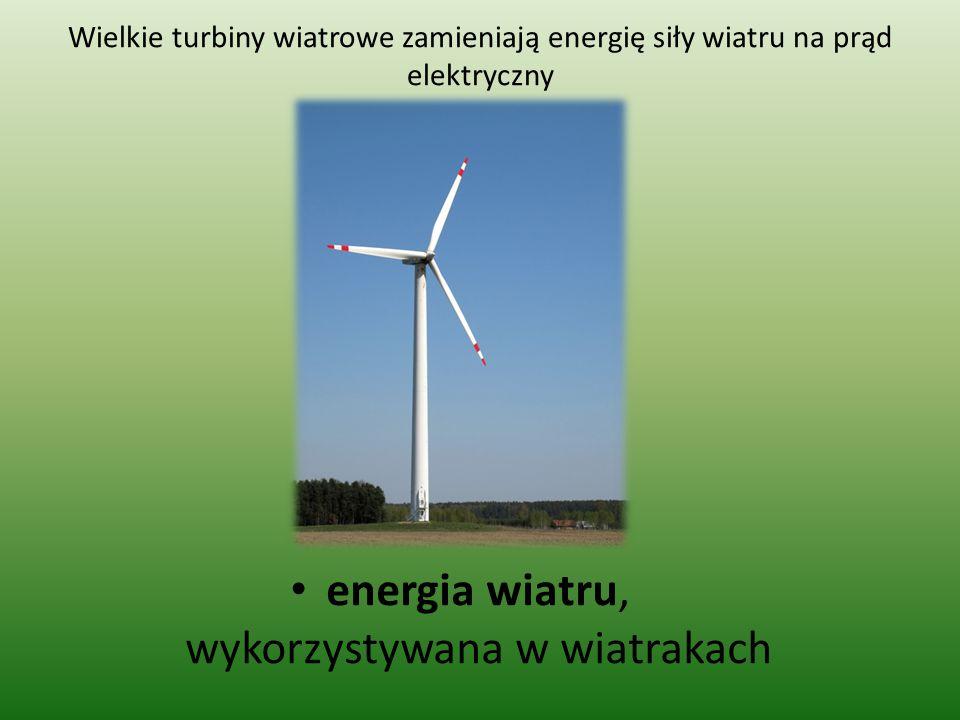 energia wiatru, wykorzystywana w wiatrakach