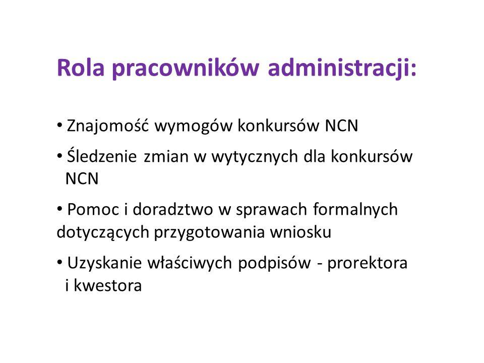 Rola pracowników administracji: