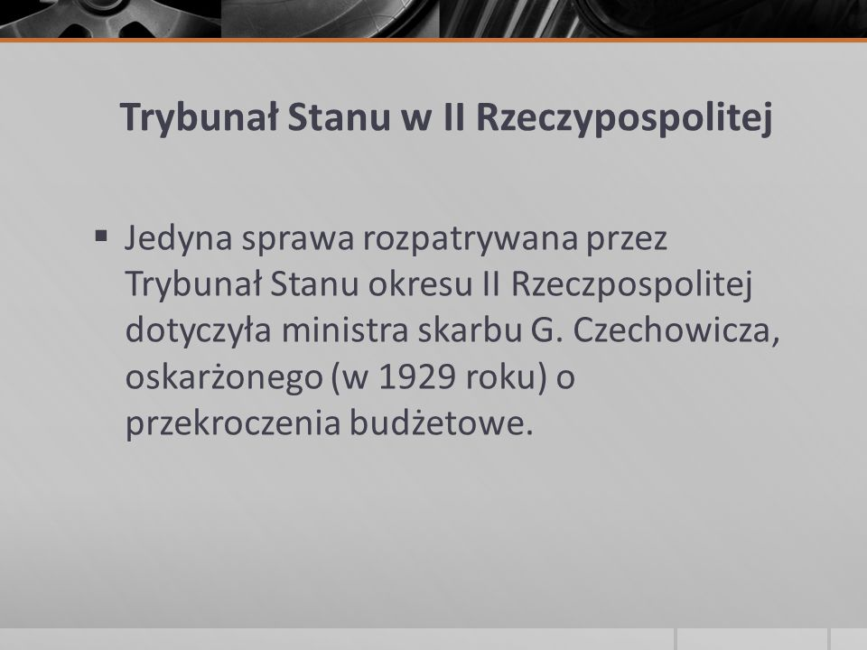 Trybunał Stanu w II Rzeczypospolitej