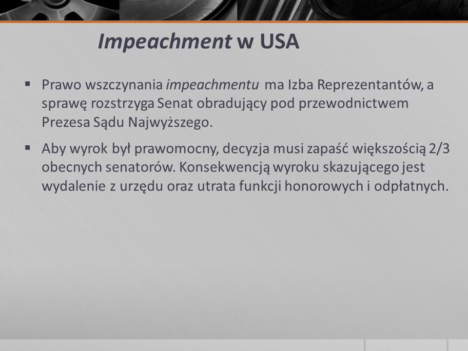 Impeachment w USA
