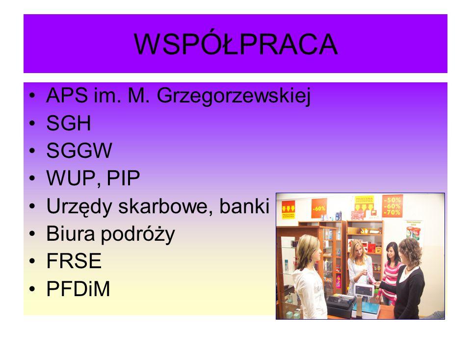 WSPÓŁPRACA APS im. M. Grzegorzewskiej SGH SGGW WUP, PIP