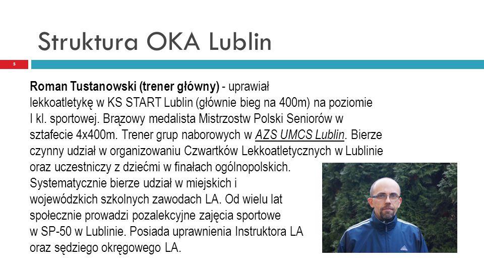 Struktura OKA Lublin Roman Tustanowski (trener główny) - uprawiał