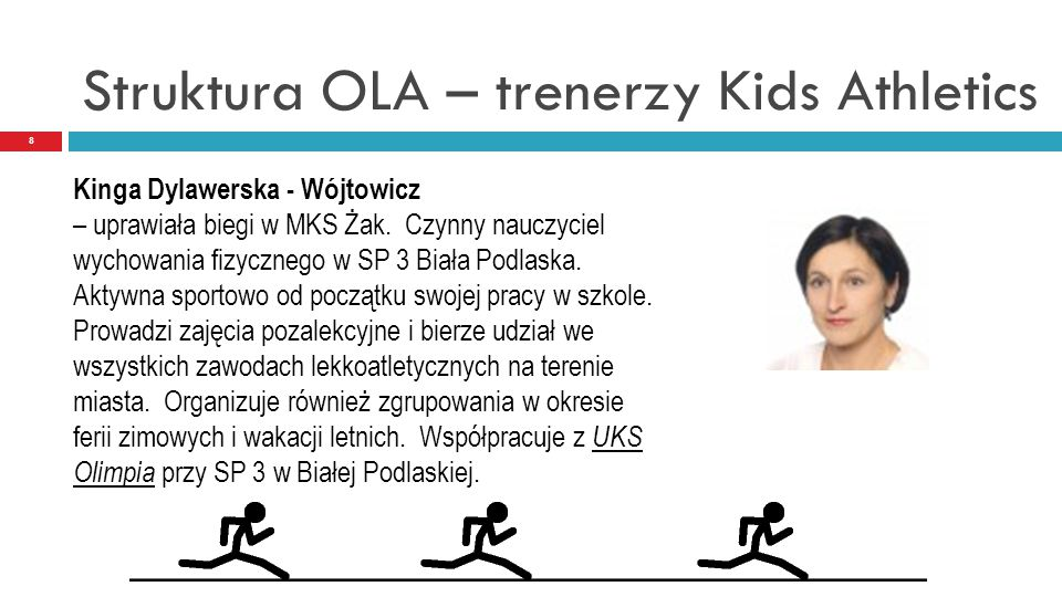 Struktura OLA – trenerzy Kids Athletics