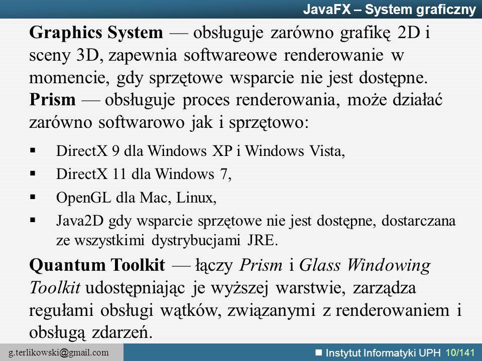 JavaFX – System graficzny