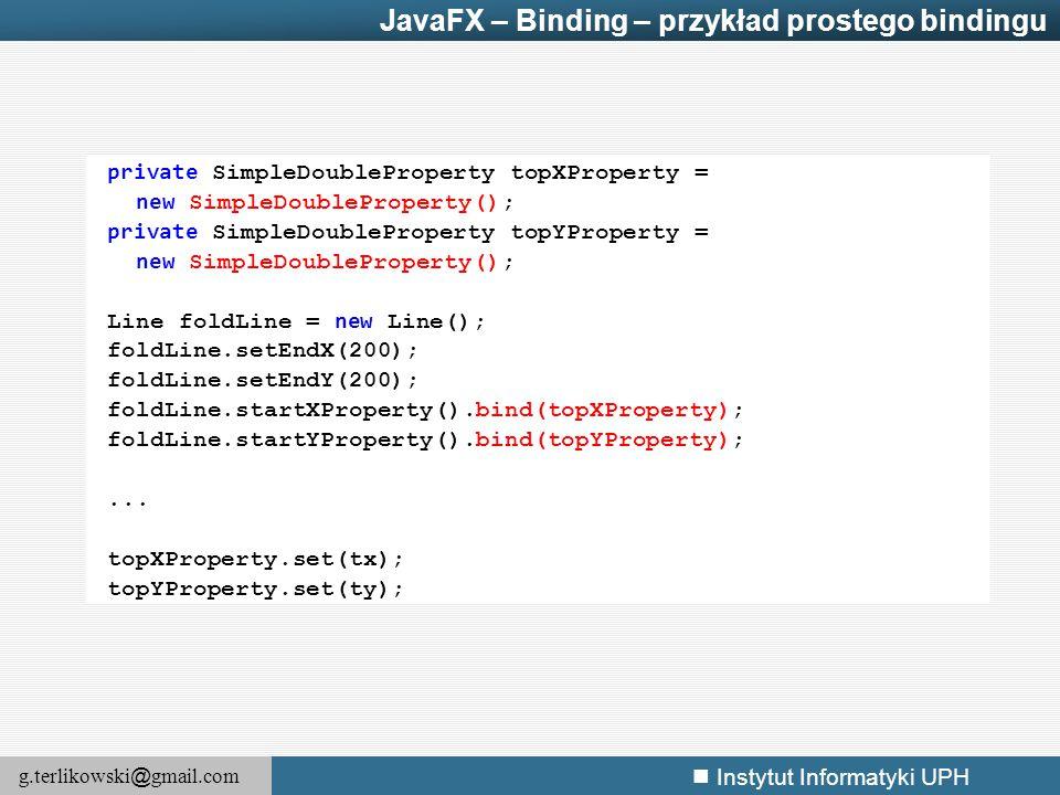 JavaFX – Binding – przykład prostego bindingu