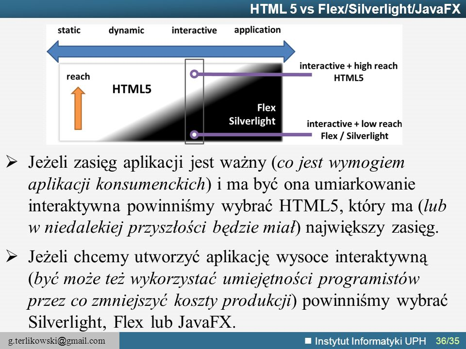 HTML 5 vs Flex/Silverlight/JavaFX