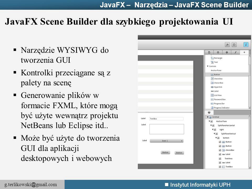 JavaFX Scene Builder dla szybkiego projektowania UI