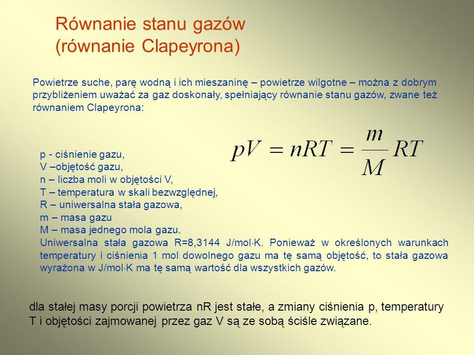 (równanie Clapeyrona)