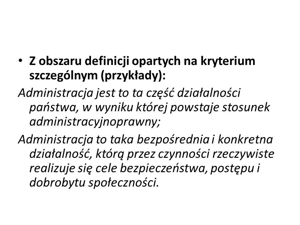 Z obszaru definicji opartych na kryterium szczególnym (przykłady):