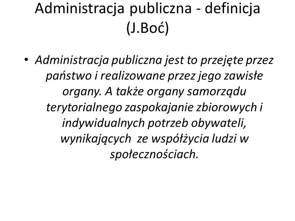 Administracja publiczna - definicja (J.Boć)