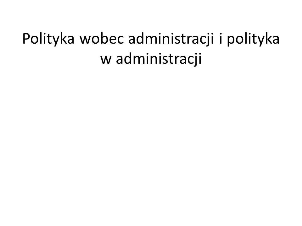 Polityka wobec administracji i polityka w administracji