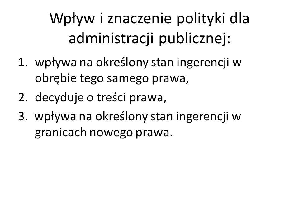 Wpływ i znaczenie polityki dla administracji publicznej: