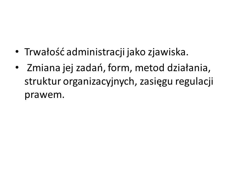 Trwałość administracji jako zjawiska.