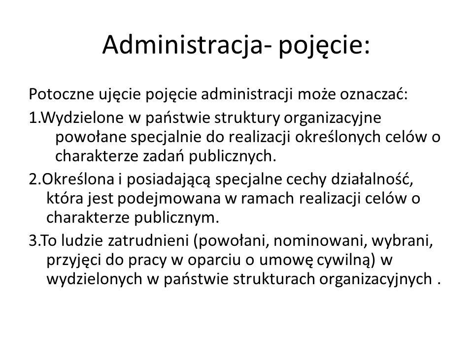 Administracja- pojęcie: