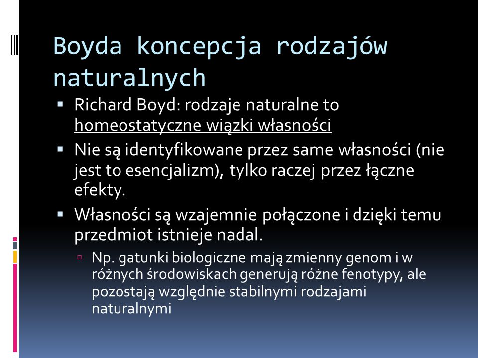 Boyda koncepcja rodzajów naturalnych