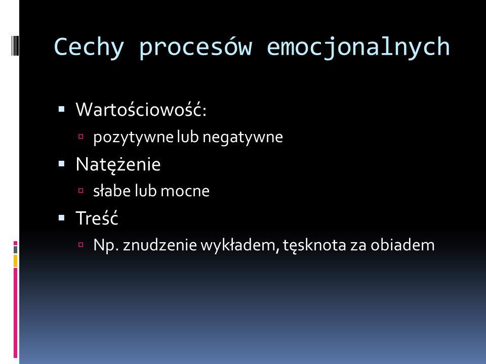 Cechy procesów emocjonalnych