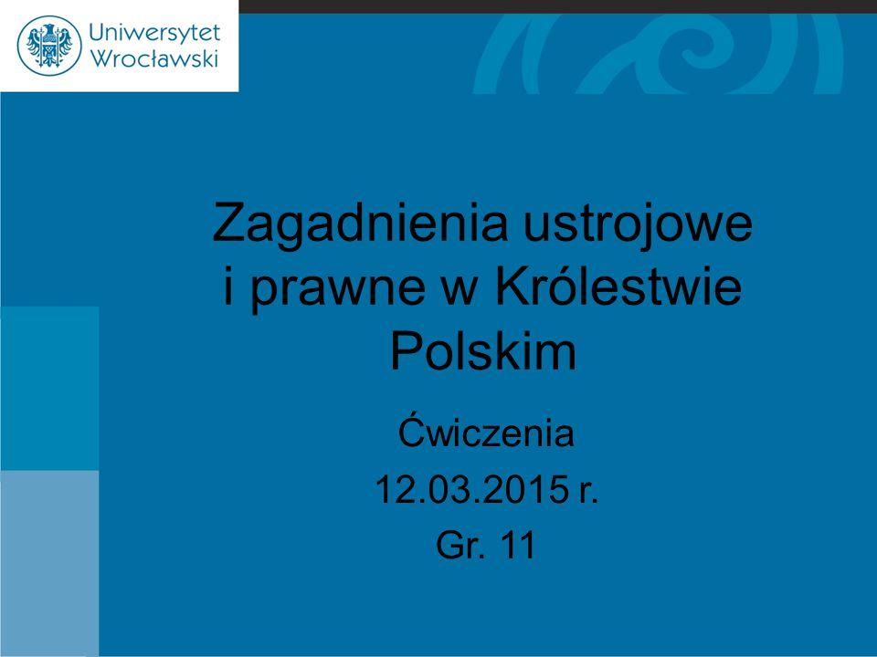 Zagadnienia ustrojowe i prawne w Królestwie Polskim