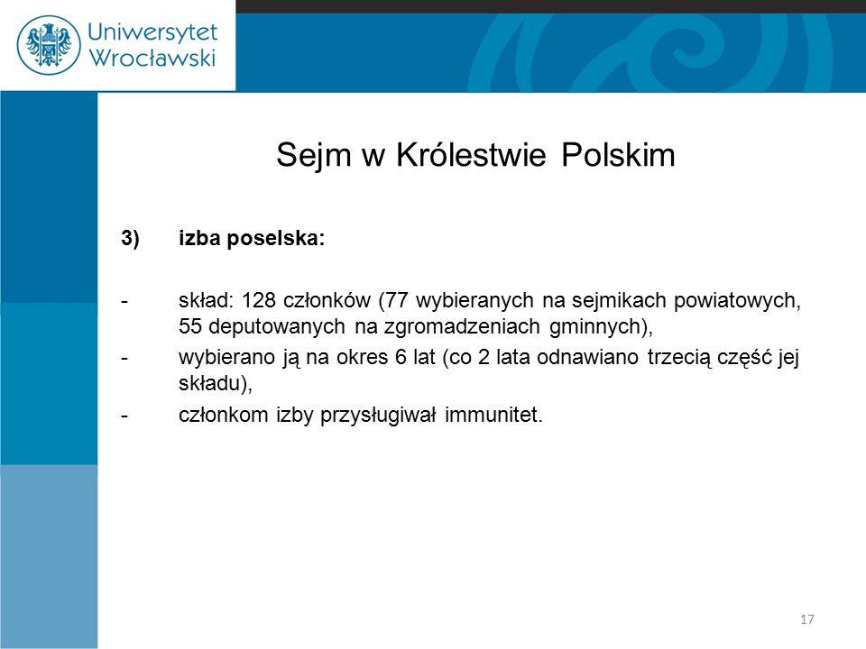 Sejm w Królestwie Polskim