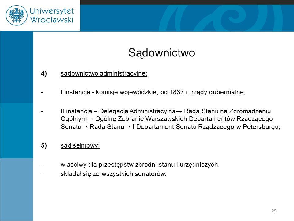 Sądownictwo 4) sądownictwo administracyjne: