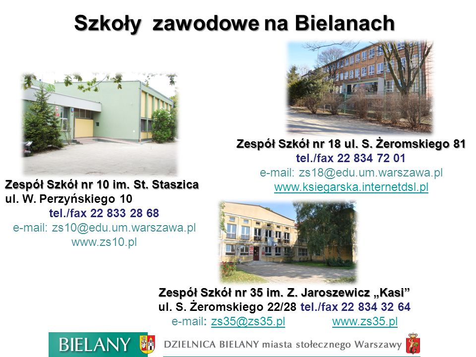 Szkoły zawodowe na Bielanach