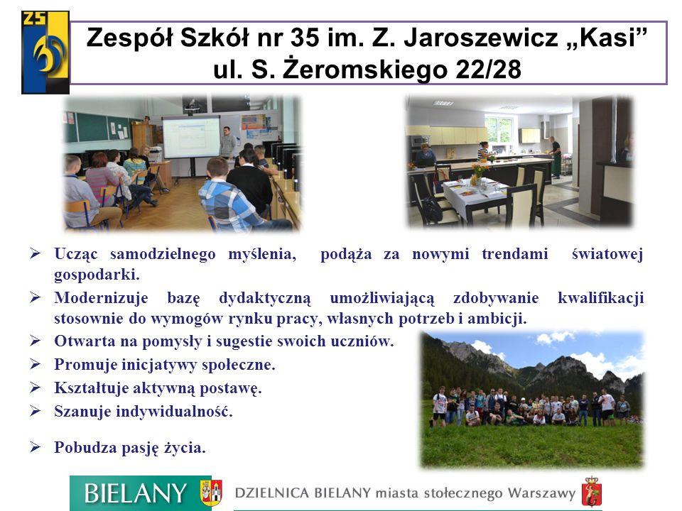 """Zespół Szkół nr 35 im. Z. Jaroszewicz """"Kasi ul. S. Żeromskiego 22/28"""
