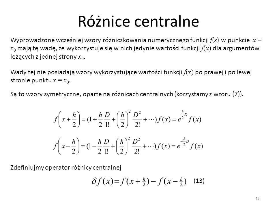 Różnice centralne