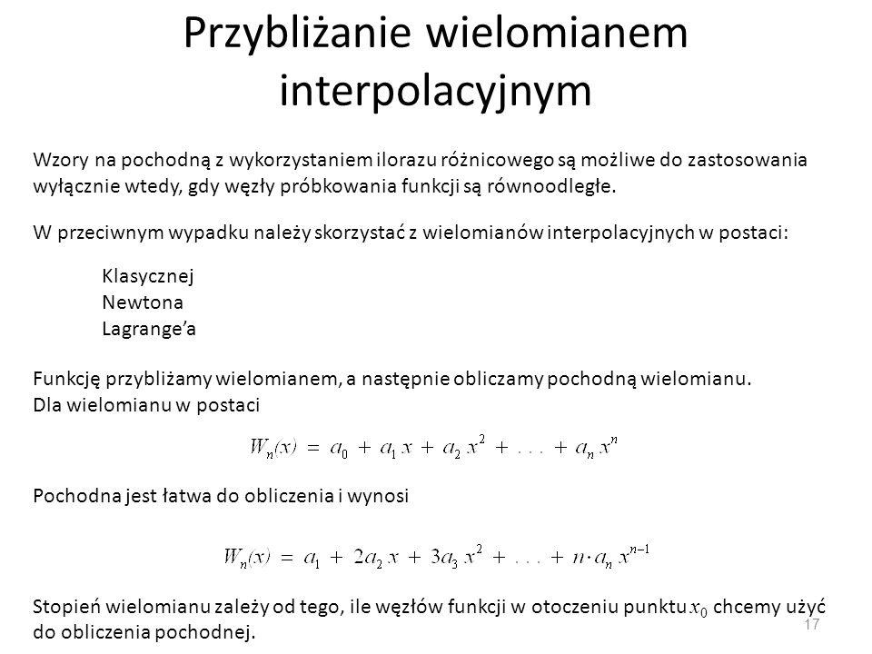 Przybliżanie wielomianem interpolacyjnym
