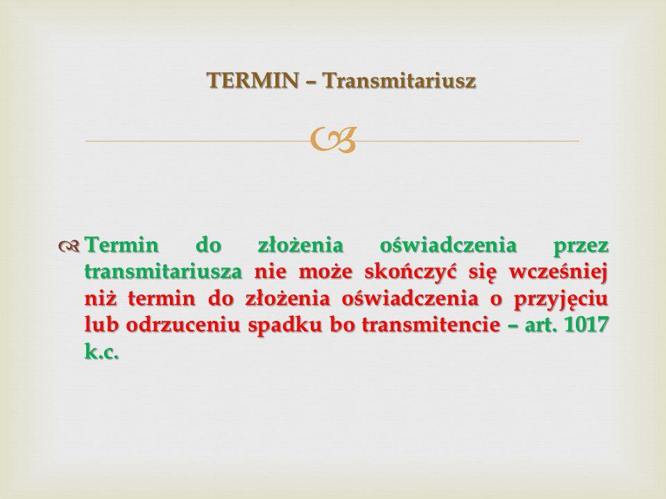 TERMIN – Transmitariusz
