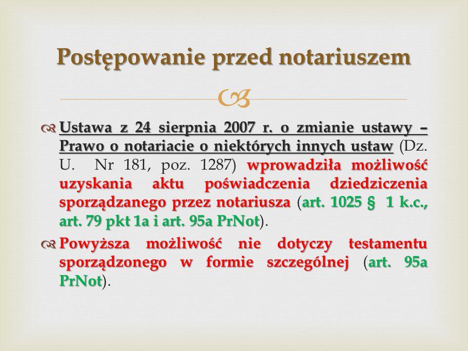 Postępowanie przed notariuszem