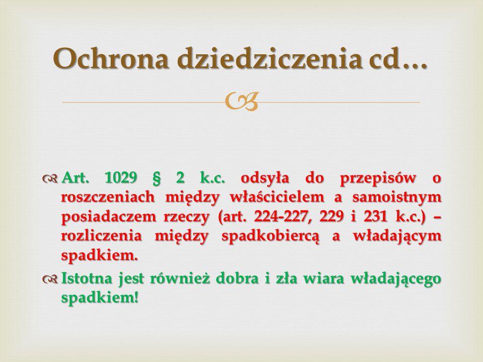 Ochrona dziedziczenia cd…