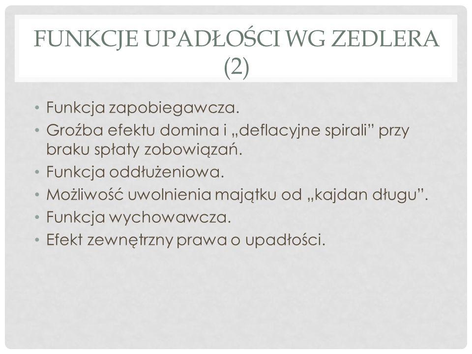 Funkcje upadłości wg zedlera (2)
