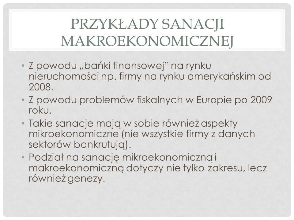 Przykłady sanacji makroekonomicznej