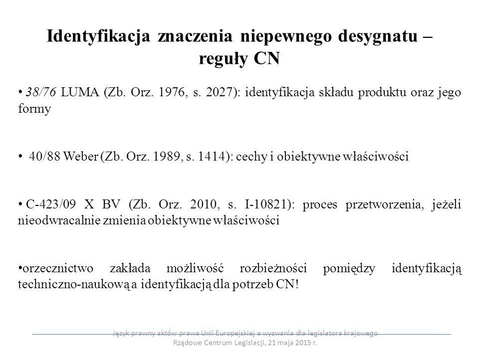Identyfikacja znaczenia niepewnego desygnatu – reguły CN