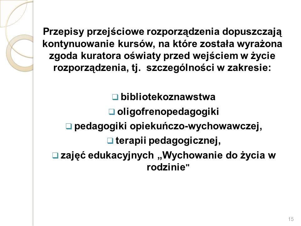 oligofrenopedagogiki pedagogiki opiekuńczo-wychowawczej,