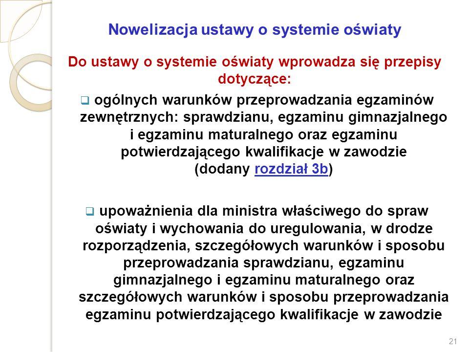 Nowelizacja ustawy o systemie oświaty