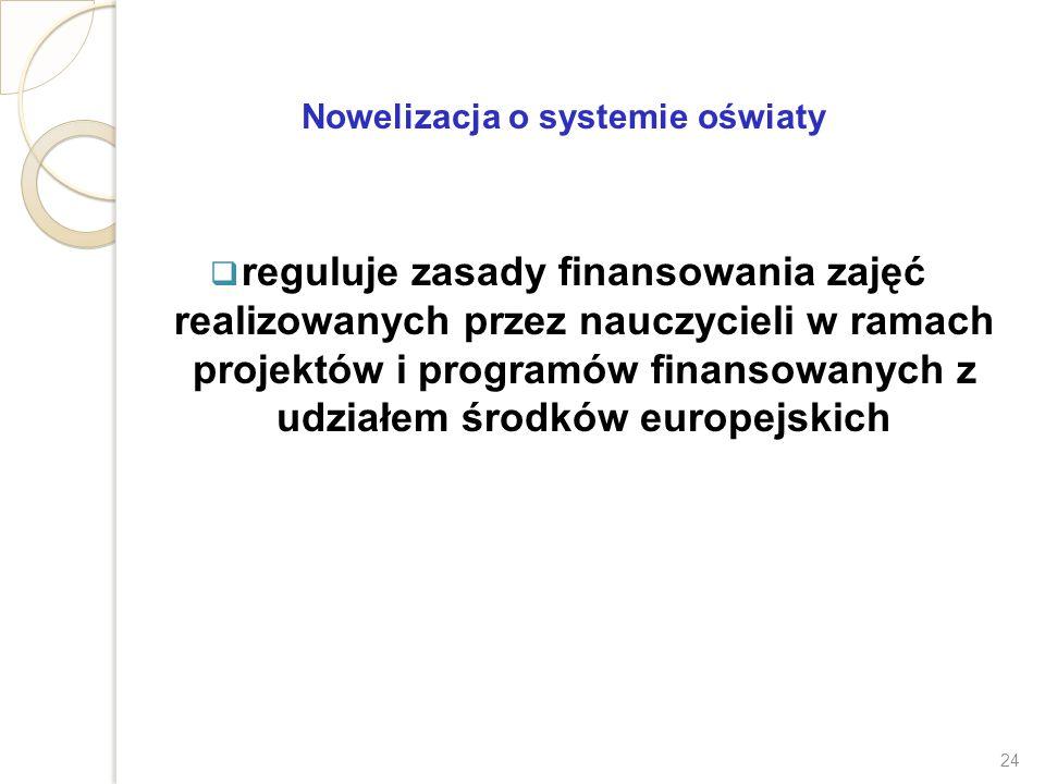Nowelizacja o systemie oświaty