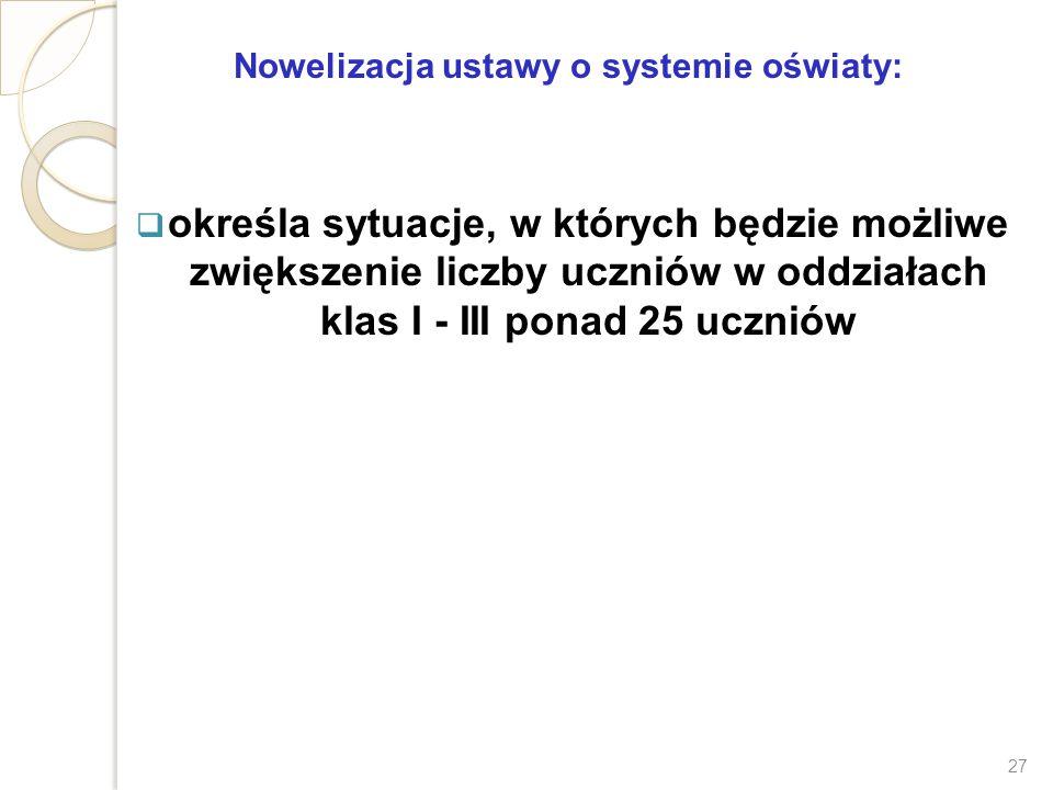 Nowelizacja ustawy o systemie oświaty: