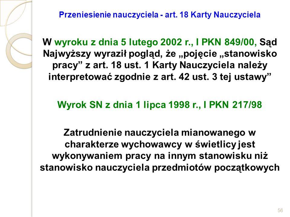 Wyrok SN z dnia 1 lipca 1998 r., I PKN 217/98