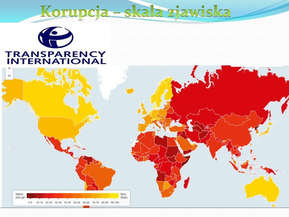 Korupcja – skala zjawiska